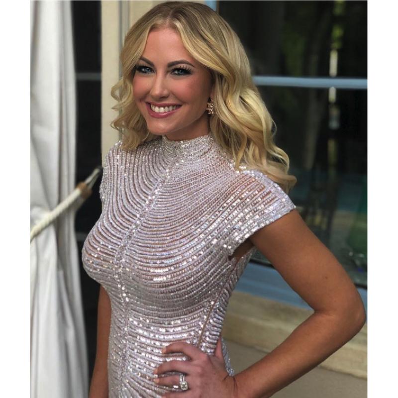 Stephanie Hollman's Silver Sequin Dress