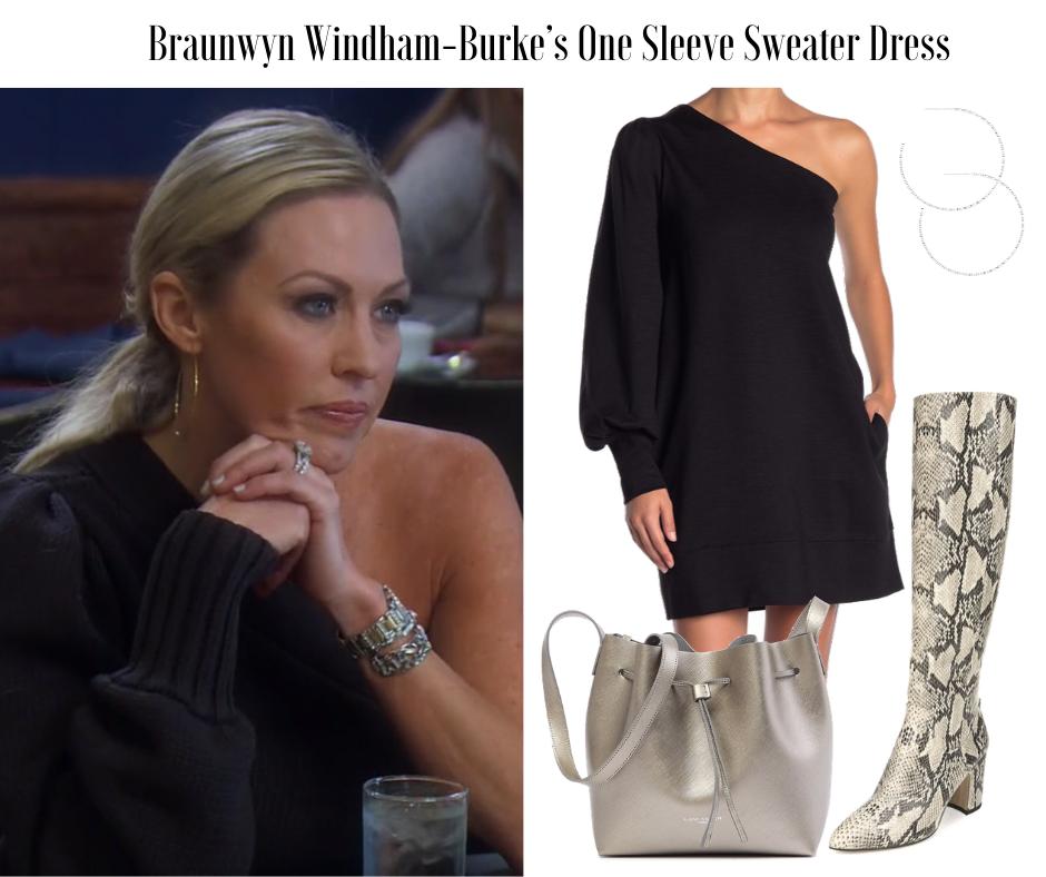 Braunwyn Windham Burke's One Shoulder Dress