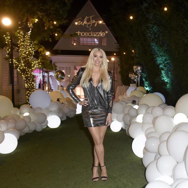 Erika Jayne Girardi's Silver Metallic Dress
