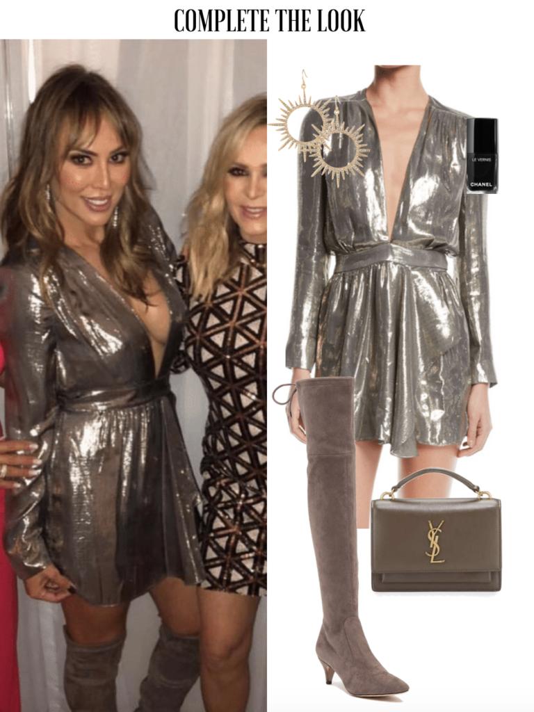 Kelly Dodd's Metallic Mini Dress rhoc