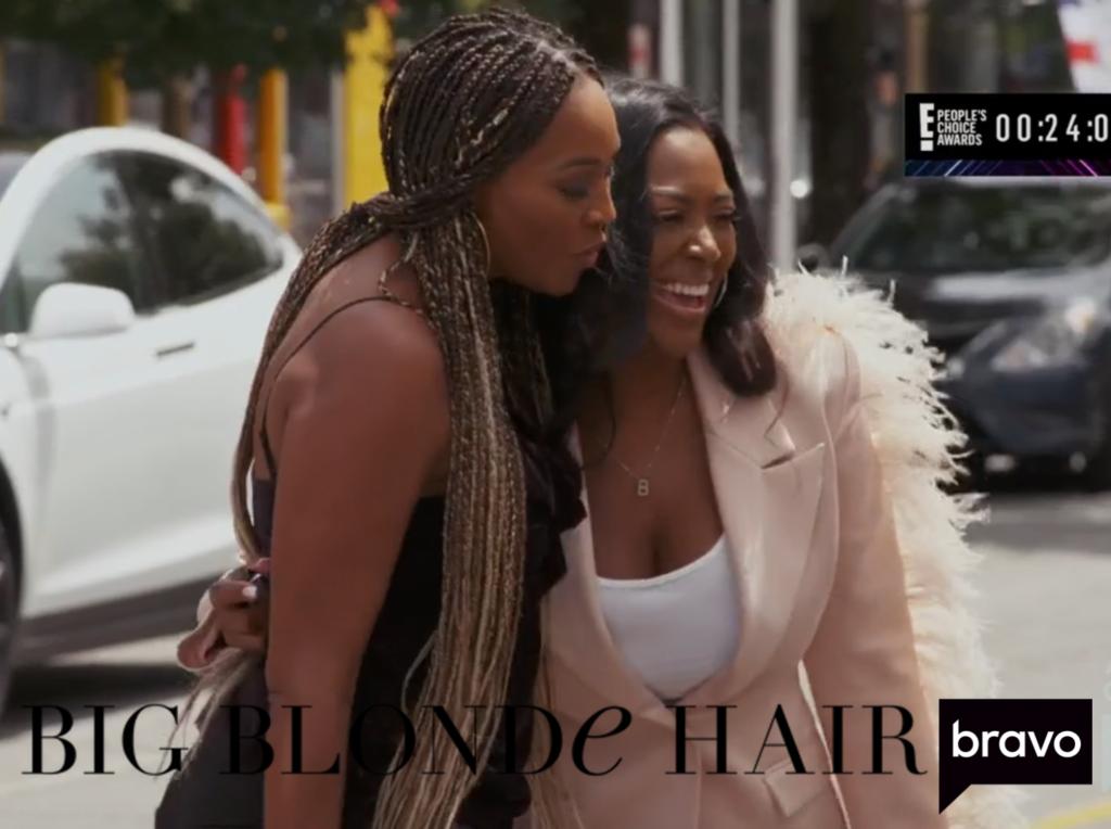 Kenya Moore's Pink Feather Blazer