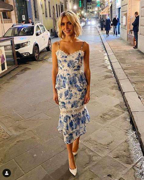 Kristin Cavallari's Blue and White Floral Dress