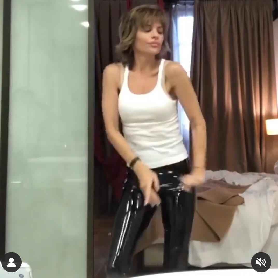 Lisa Rinna's Patent Leather Leggings