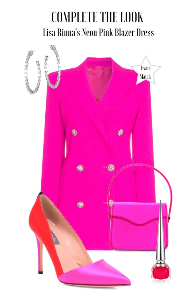 Lisa Rinna's Pink Blazer Dress at Bravocon