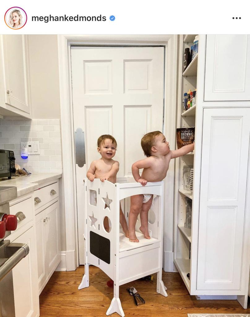 Meghan King Edmonds' White Toddler Kitchen Stool