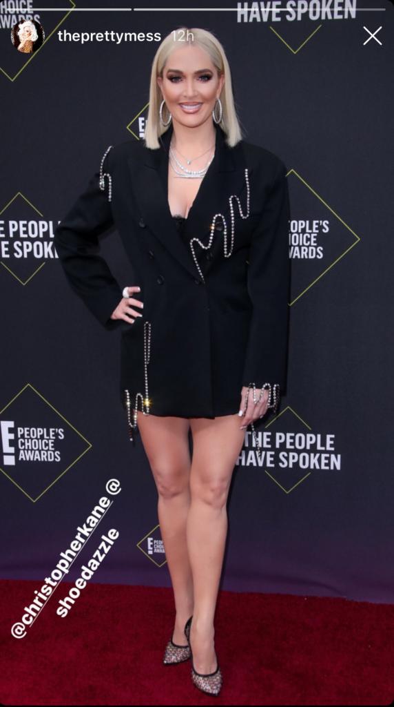 Erika Jayne Girardis' Pearl Blazer Dress