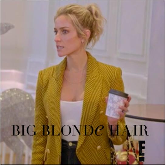 Kristin Cavallari's Yellow Herringbone Blazer