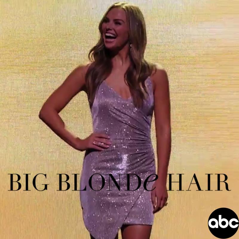 Hannah Brown's Silver Glitter Dress