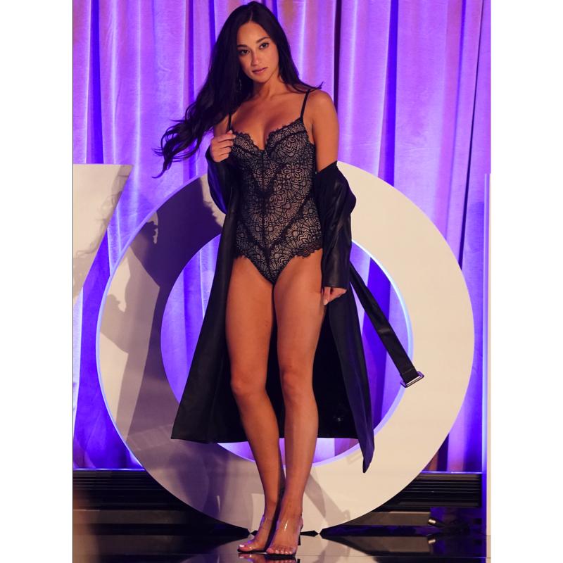 Victoria Fuller's Lace Bodysuit