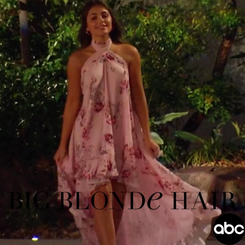 Hannah Ann Sluss' Pink Floral Dress