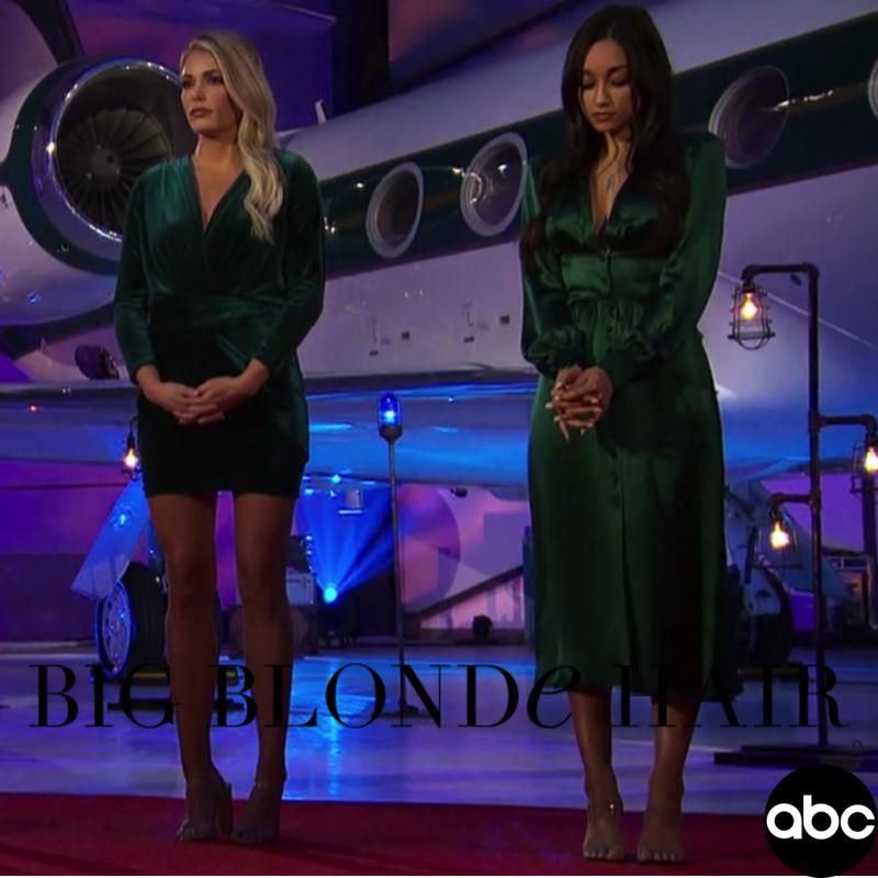 Kelsey Weier's Green Velvet Dress