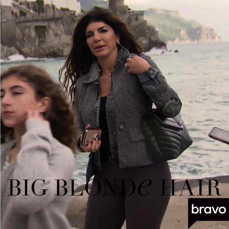 Teresa Giudice's Layered Jacket in Italy
