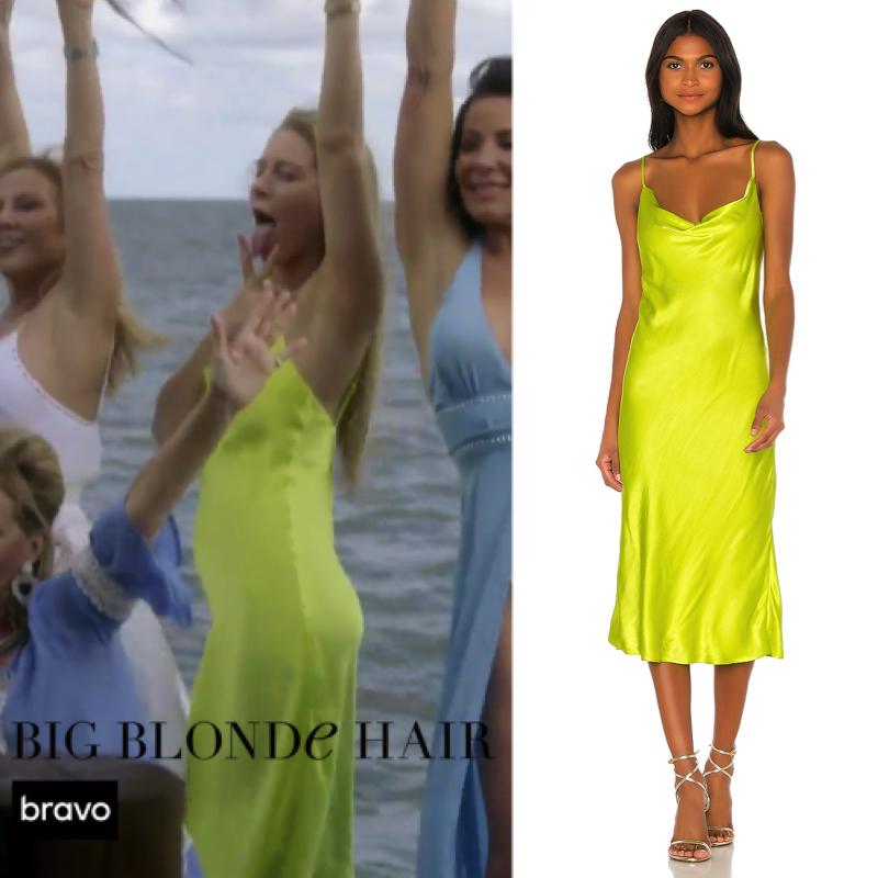 Leah McSweeney's Neon Yellow Dress