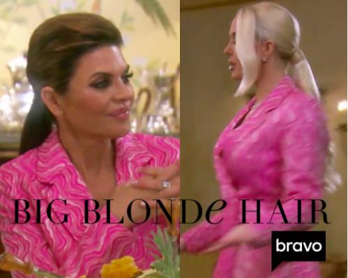 Lisa Rinna and Erika Girardi's Pink Blazer Dress