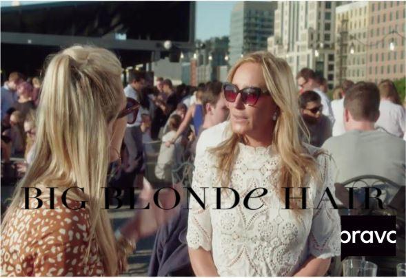 Sonja Morgan's White Lace Top
