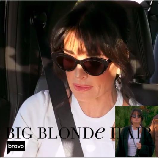 Kyle Richards' Black Cat Eye Sunglasses