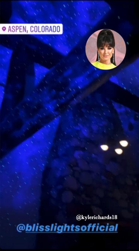 Kyle Richards' Starry Lights on Instagram