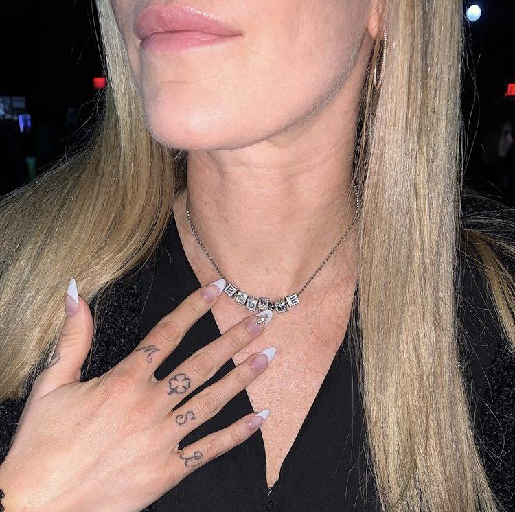 Leah McSweeney's Block Necklace