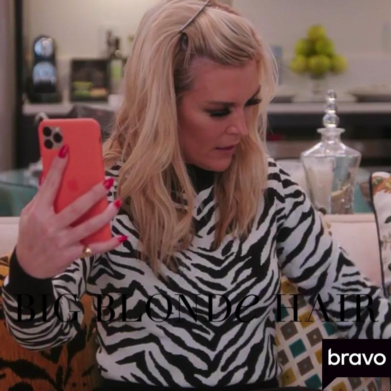 Tinsley Mortimer's Zebra Sweater