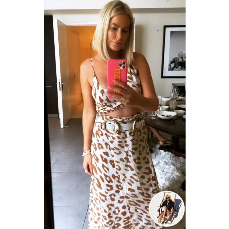 Caroline Stanbury's Leopard Cutout Dress
