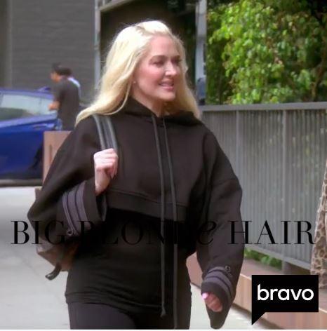 Erika Jayne Girardi's Black Cropped Sweatshirt