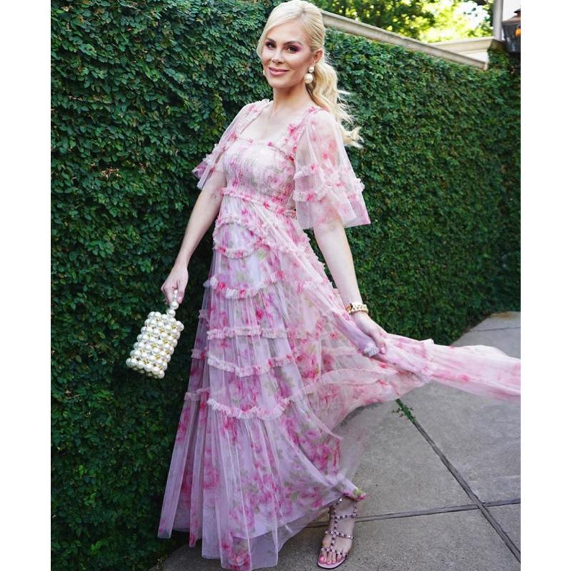 Kameron Westcott's Pink Floral Tulle Dress