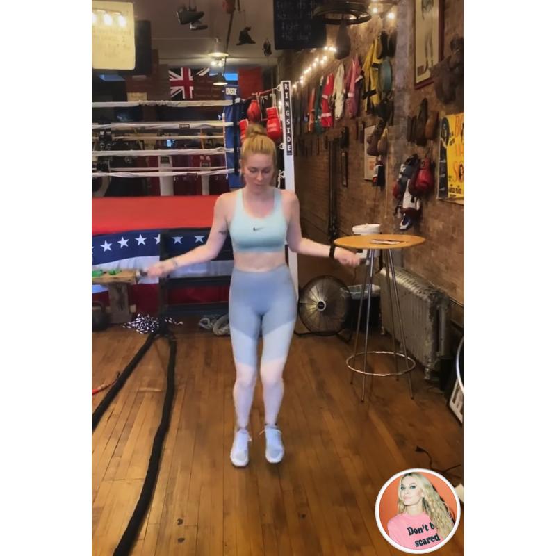 Leah McSweeney's Pastel Color Blocked Leggings