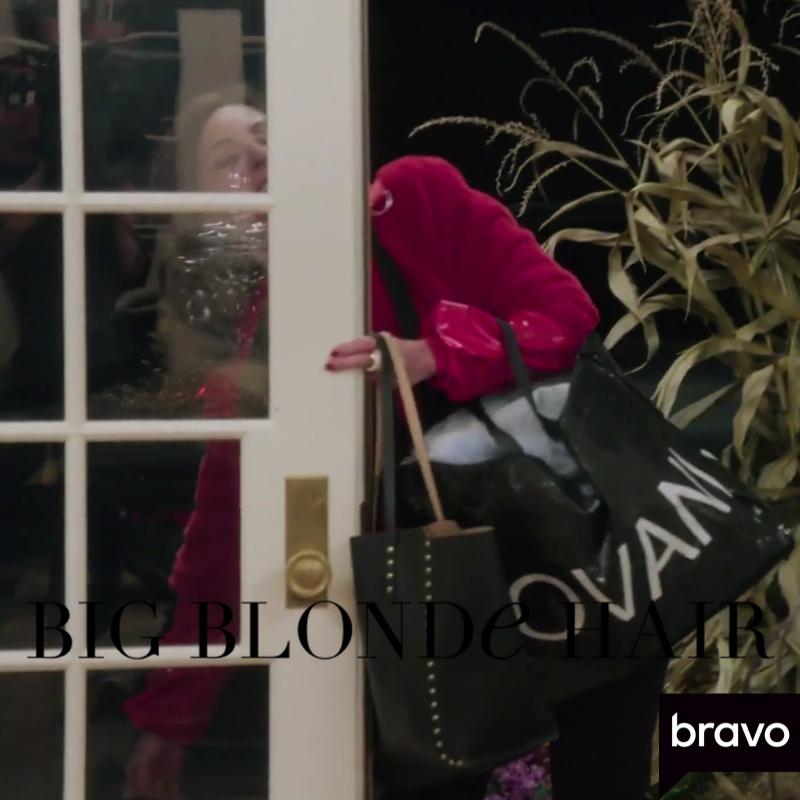Luann de Lesseps' Black Studded Tote Bag