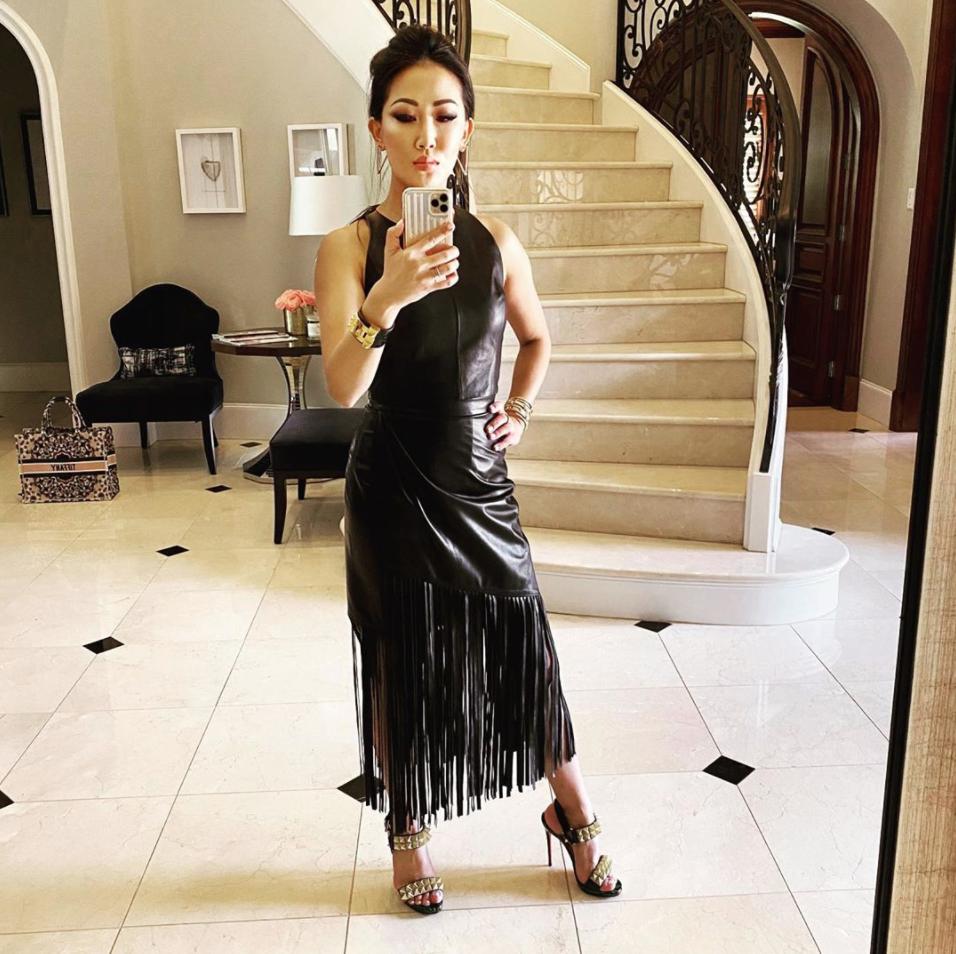 Tiffany Moon's Black Leather Fringe Skirt