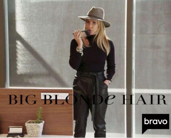 Tracy Tutor's Black Cutout Turtleneck + Leather Pants