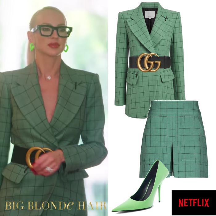 Christine Quinn's Green Plaid Suit