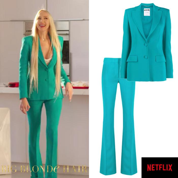 Christine Quinn's Turquoise Suit