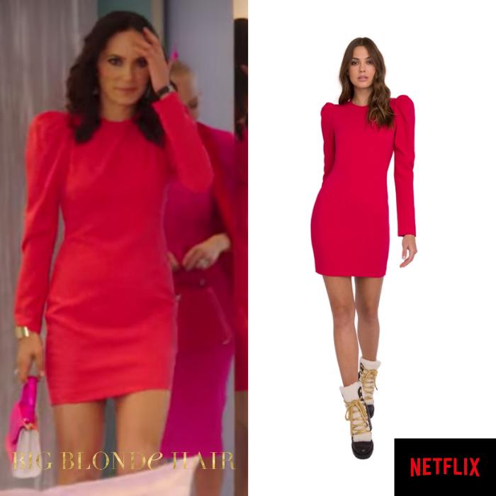 Davina Portraz's Red Puff Sleeve Dress