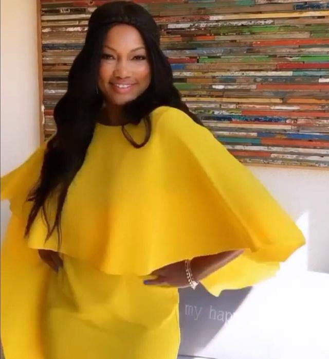 Garcelle Beauvais' Yellow Cape Dress