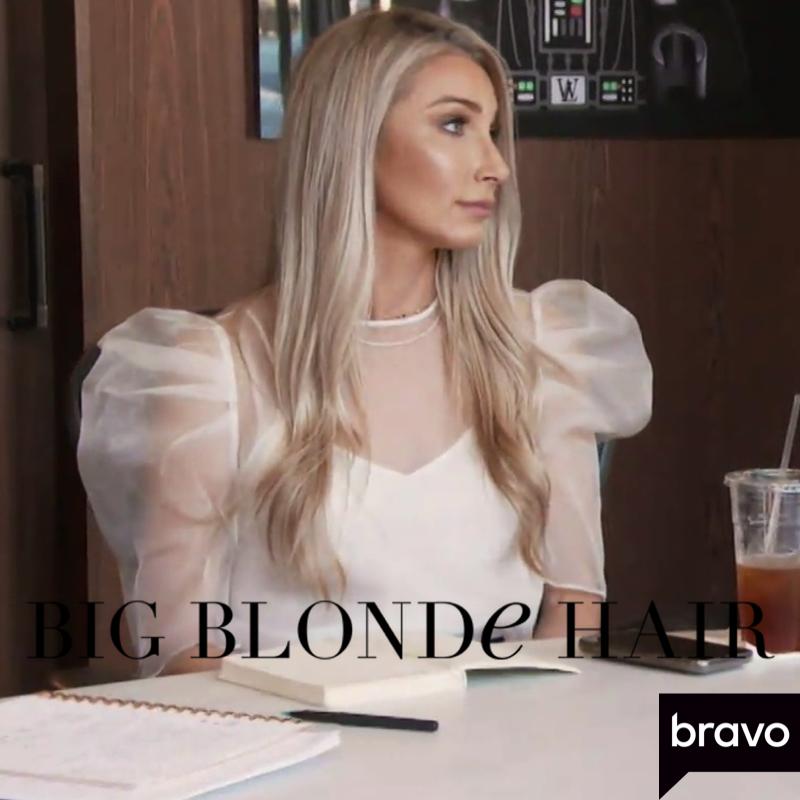Heather Altman's White Sheer Puff Sleeve Top