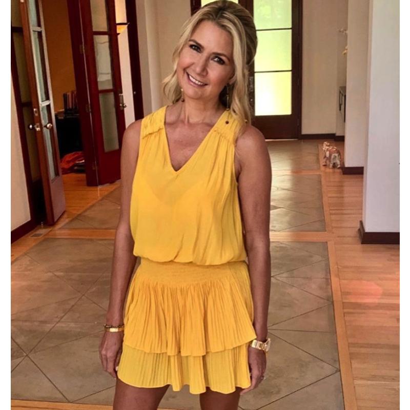 Kary Brittingham's Yellow Ruffle Dress
