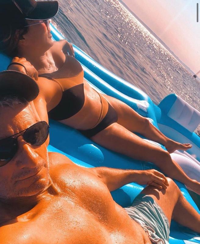 Kelly Dodd's Black Mesh One Shoulder Bikini