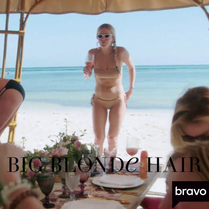 Leah McSweeney's Nude Ribbed Bikini