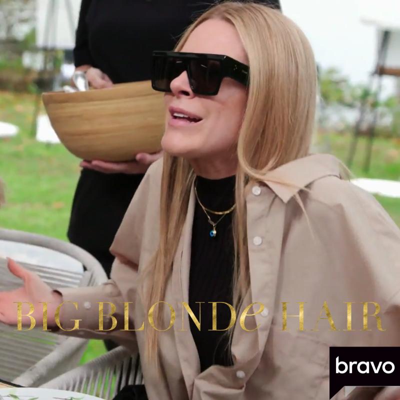 Leah McSweeney's Black Flat Top Sunglasses