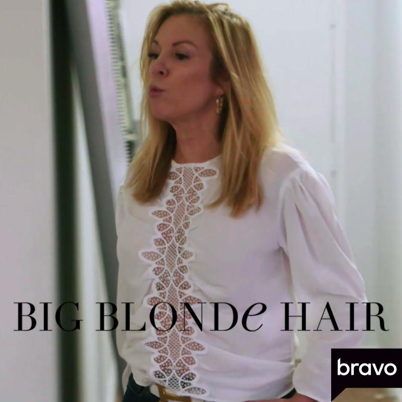Ramona Singer's White Lace Detail Blouse