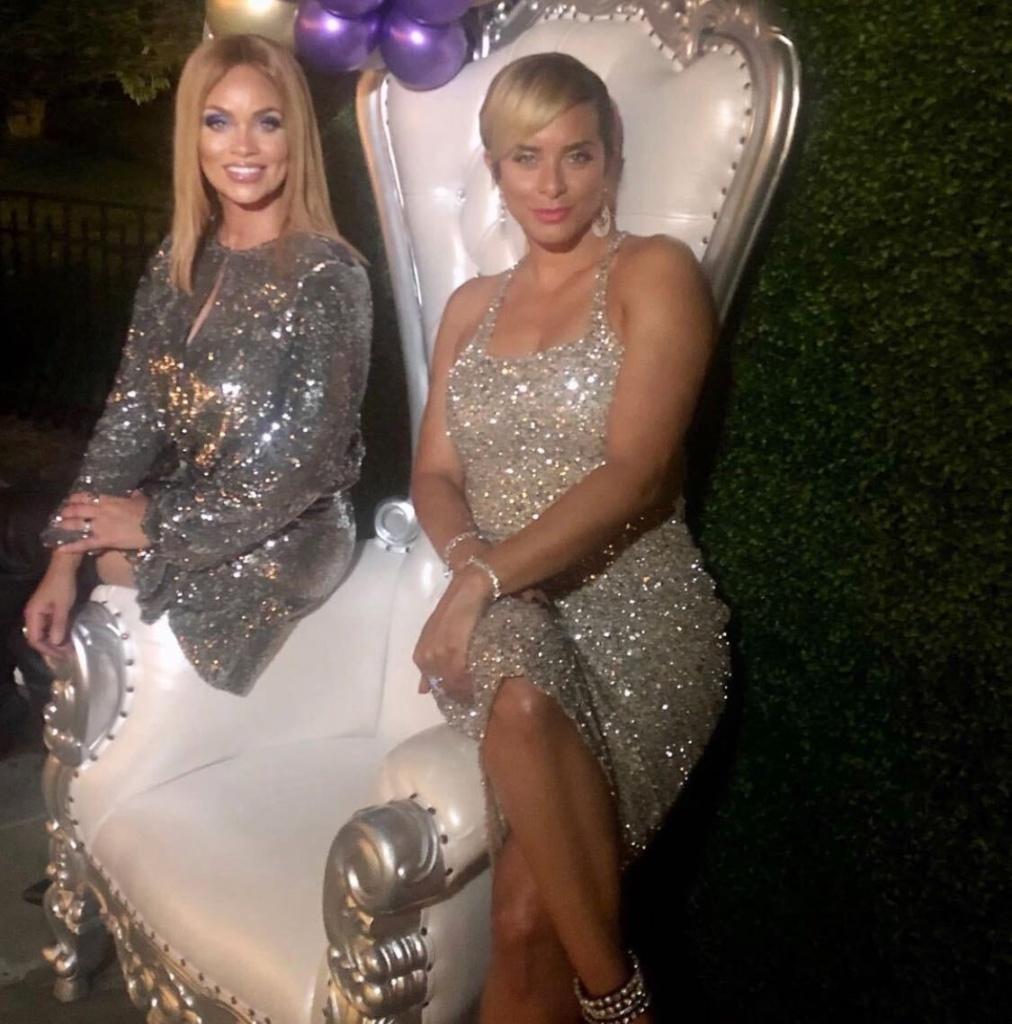 Robyn Dixon's Silver Sequin Dress