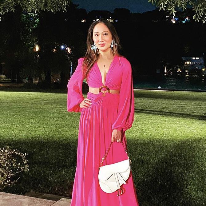 Tiffany Moon's Pink Cutout Dress