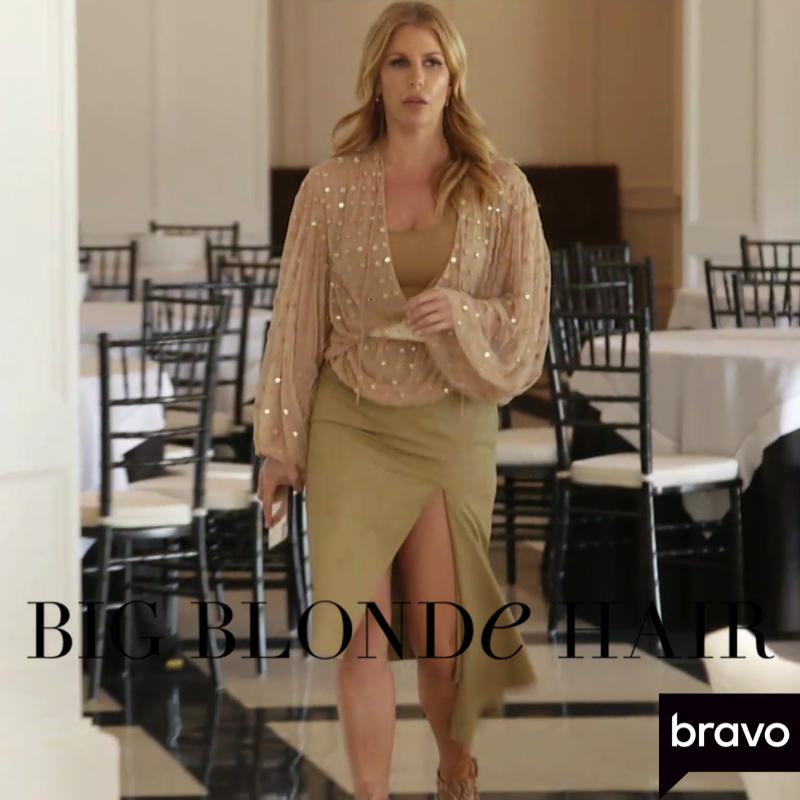 Tracy Tutor's Khaki Asymmetrical Slit Skirt
