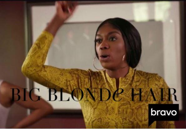 Wendy Osefo's Yellow Snake Print Bodysuit and Leggings