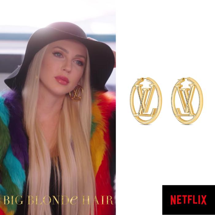 Christine Quinn's Gold LV Logo Hoop Earrings