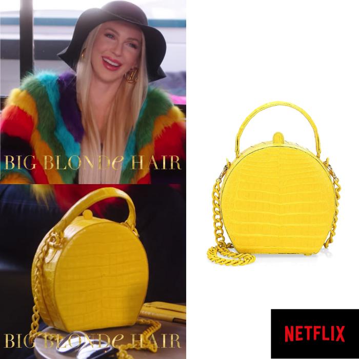 Christine Quinn's Yellow Crocodile Purse