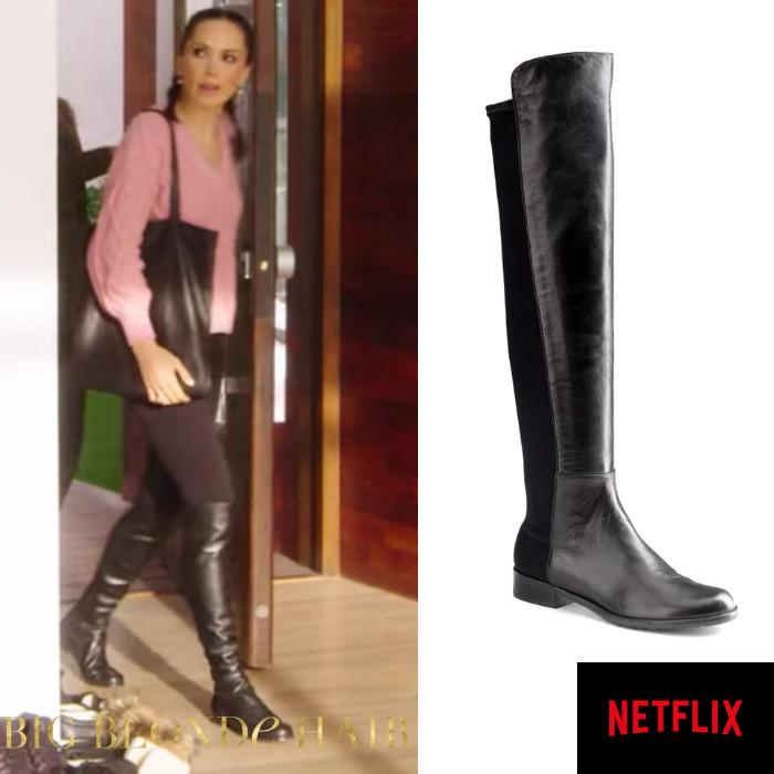 Davina Potratz's Black Leather Boots