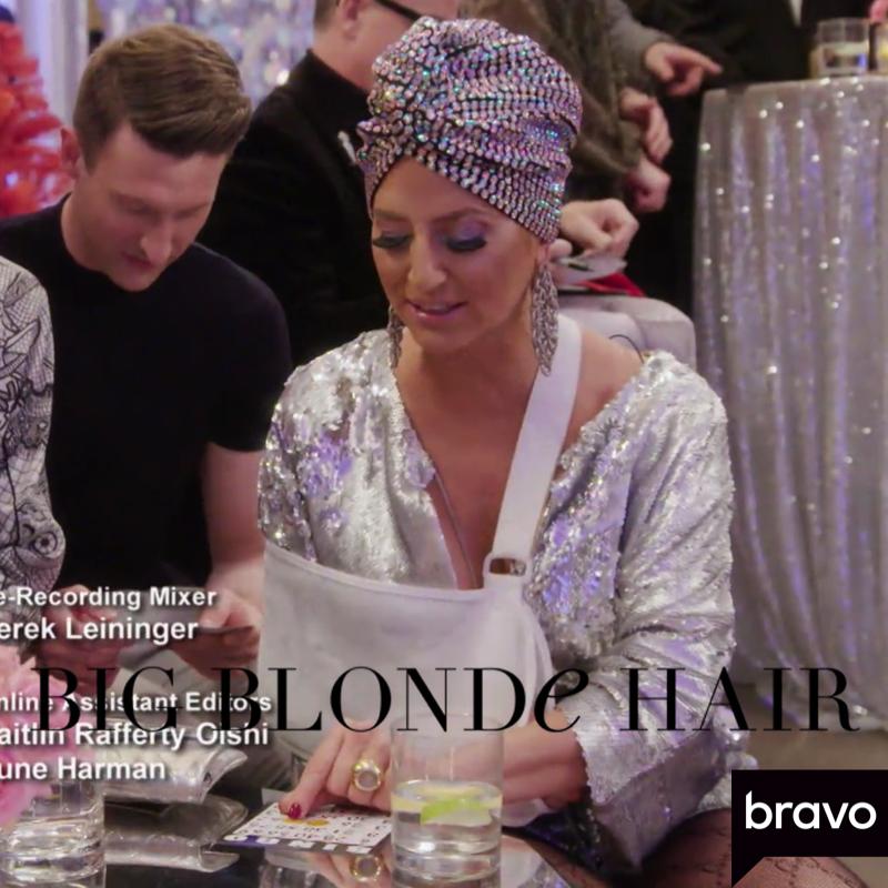 Dorinda Medley's Crystal Embellished Turban