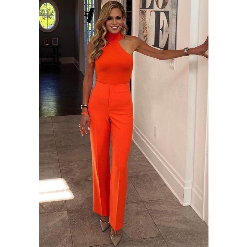 Jackie Goldschneider's Orange Outfit