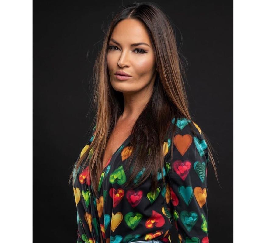 Lisa Barlow's Heart Print Bodysuit
